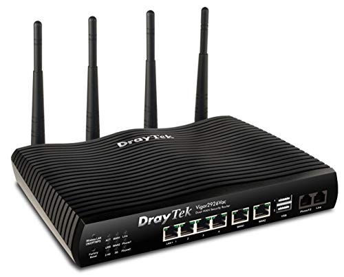 Dray Tek Vigor 2926VAC Dual-WAN Security-Router Schwarz