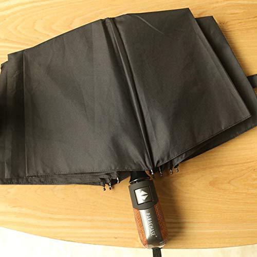 EFKKLM Véritable Marque Parapluie Pliant Hommes Hommes Qualité des Affaires Ensoleillées Et Pluvieuses Parapluie Coupe-Vent Style 4 Couleurs Parasol