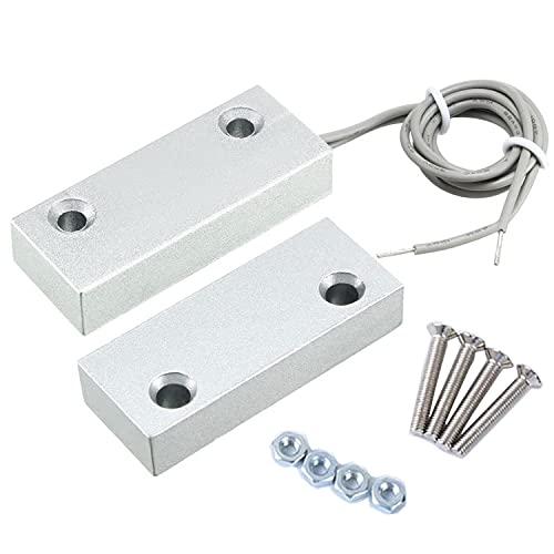 Enfwei Porta sSensore Magnetico Aallarme Interruttore Magnetico Rilevatore Magnetico Sensori di Porte e Finestre Sensori e Rilevatori di Sicurezza -for la casa Garage Allarme Sicurezza (Metallo )