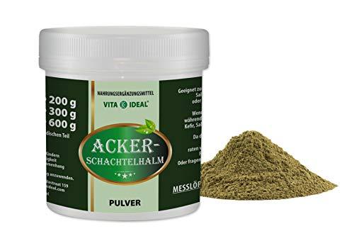 VITAIDEAL ® Ackerschachtelhalm 300g PULVER (Zinnkraut, Equisetum arvense, field horsetail) + Messlöffel von NEZ-Diskounter