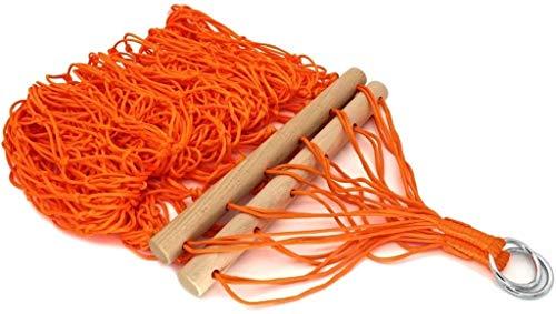 Kyman Resistente al Desgaste al Aire Libre Hamaca Hamaca Hamaca Columpio de Malla Silla de la Hamaca Fuerte Influencia Durable Seguridad (Color: Azul) (Color : Orange)
