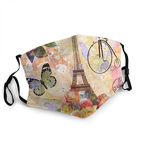 Antokos Paris toalla con mariposa hombres mujeres lavable reutilizable corte cara bufanda impresión gráfica diadema
