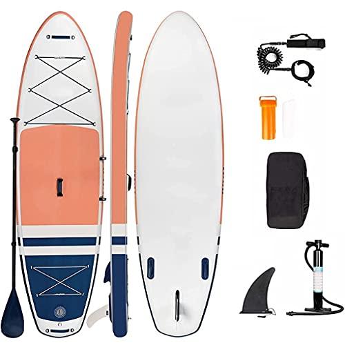 ROSG Tablas de Surf Hinchables Stand Up Paddle Board Kit, Sup Stand Up Paddle Board 15cm Grueso Ajustable Paddle, Mochila de Transporte, Bomba de Mano, Correa de Seguridad para el Tobillo, K