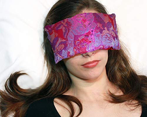 Candi Andi Handmade Eye Pillow - Flax Seed Fill - Unscented - Fuchsia Garden - TEP-FG