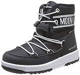 Moon-boot Jr Boy Mid WP, Stivali da Neve Uomo, Nero (Nero 001), 37 EU