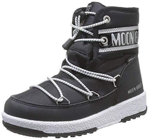 Moon-boot Jr Boy Mid WP, Bottes de Neige garçon, Noir (Nero 001), 35 EU