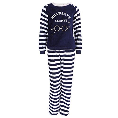 Pyjama Bleu Marine, molletonné Harry Potter - Small