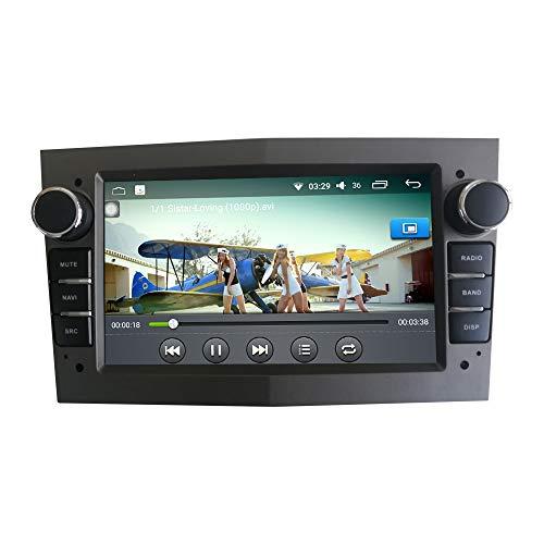 Android 10 Autorradio Navegación del Coche Unidad Principal Estéreo Reproductor Multimedia GPS Radio IPS 2.5D Pantalla táctil porOPEL Vectra ANTARAOPEL Zafira CORSAOPEL MERIVA Astra Deckless