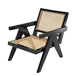 Eichholtz Dimono Cane Folding Chair woven rattan back and seat
