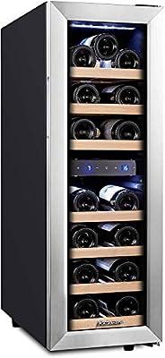 Kalamera 21 Bottle Dual Zone Freestanding Thermal Wine Fridge by Kalamera