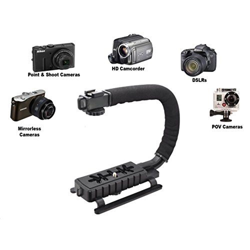 Pro Video Stabilizing Handle Grip for: Kodak EasyShare Z1015 is Vertical Shoe Mount Stabilizer Handle -  iSnapPhoto, DTOMA_820