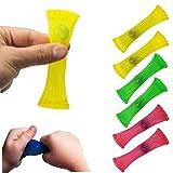 Smosyo Juguetes para aliviar el estrés Juguetes sensoriales Fidgets 6pcs Juguetes de Manguera de Malla Trenzada Juguetes sensoriales Fidget Juegos creativos para aliviar el estrés Mejorar el Enfoque
