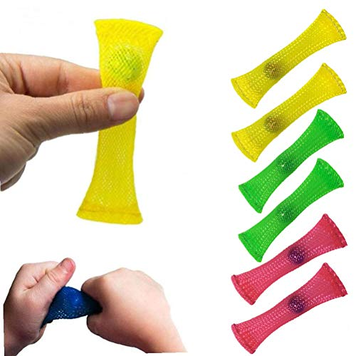 Justpe Stress Relieve Toy (Pack of 6, 3 colors), Focus Enhance, Soothing Marble Fidgets for Children and Adults, has helped with ADHD ADD OCD Autism, Depressions and Anxiety Disorders