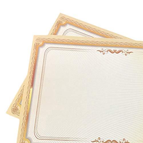 Toyvian - 20 certificados, certificados en blanco A4, papel