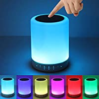 KPR Night Light Bluetooth Speaker, Touch Control Bedside Table Light