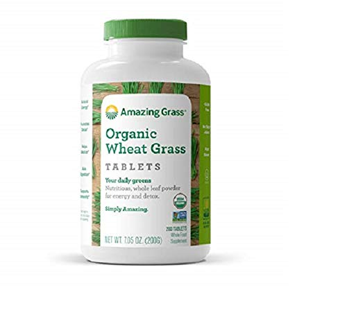 Amazing Grass Organic Wheat Grass Tablets, 200-Count Bottle by Amazing Grass