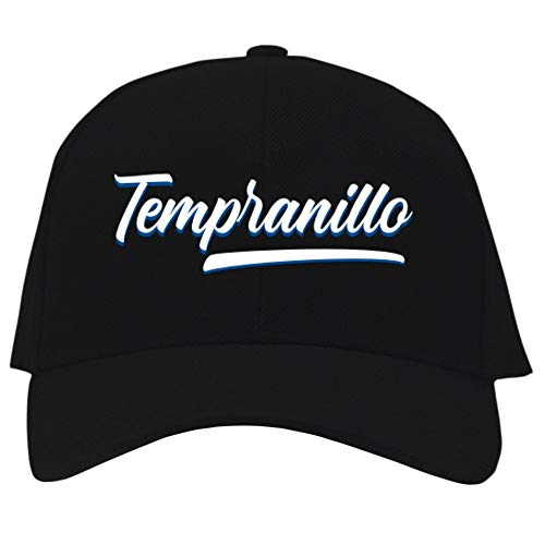 Eddany Tempranillo Baseball Retro Embroidered Baseball Cap Black