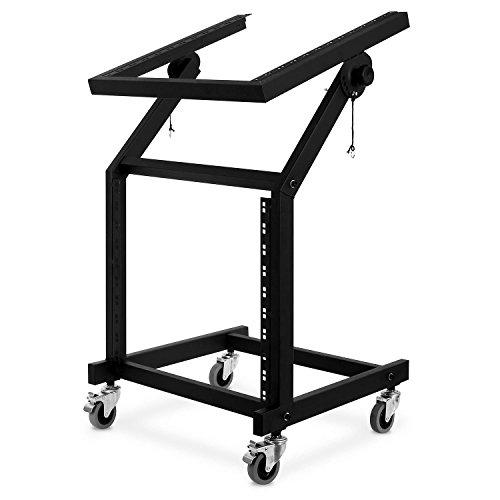 auna Rack LTS-90 DJ Roll-Rack Halterung für 48 cm-Geräte (19