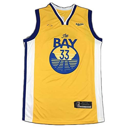 MJAD Wiseman No. 33 Jersey Warriors Uniforme de Entrenamiento de Baloncesto, Camiseta Unisex L