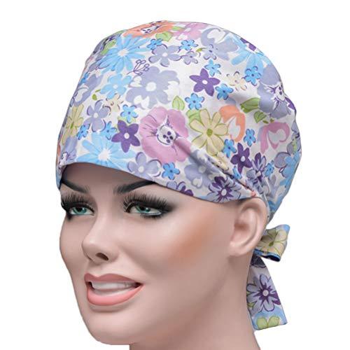 FENICAL Cuffia per Infermiere Chirurgica Unisex con Cappuccio Regolabile con Stampa Floreale