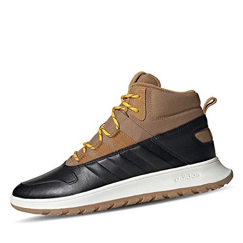 adidas EE9708 Fusion Storm WTR Herren Sneakerboots aus Nylonmesh mit Warmfutter, Groesse 48, schwarz/Hellbraun