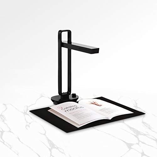 QWERTOUY Bewegliches Faltbare Buch Dokumentenscanner Max A3 mit HD-Kamera intelligenter OCR-LED-Tabellenschreibtischlampe für Familien Home Office