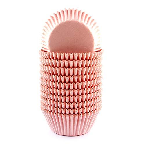 xlloest Hell-Pink Cupcake-Papierförmchen Muffin Förmchen Papier 200 Stück, Muffin Förmchen Papier Durchmesser 5 cm - Keine Gerüche, kein Gift, Keine auslaufenden Farbstoffe