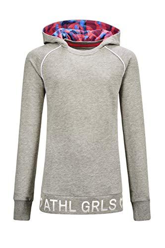 Killtec Dziewczęca bluza z kapturem Ubud Grls Sweat Shrt szary szary 164