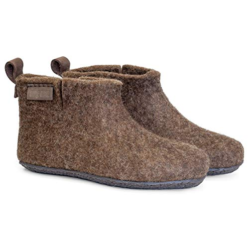 BureBure Classic Felted Wool Ankle Boots Slippers for Men