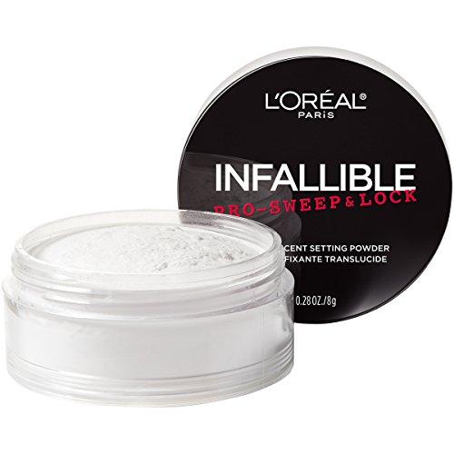 L'Oreal Paris Makeup Infallible Pro-Sweep and Lock Loose Matte Setting Face Powder, Translucent, 0.28 Oz