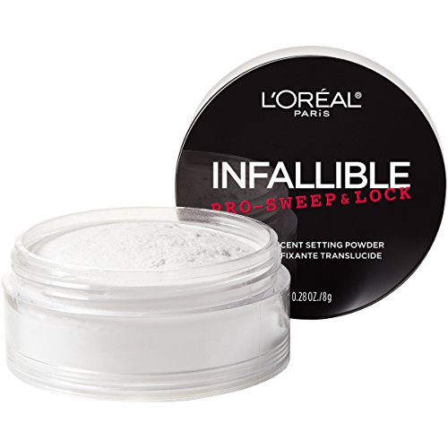 L'Oreal Paris Maquillaje Infallible Pro-Sweep & Lock Loose Matte Setting Face Powder, Translúcido, 1 pieza