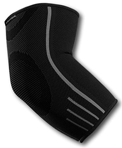 RiptGear Elbow Brace Compression Sleeve for Men and Women – Arm Support for Tendonitis, Arthritis, and Bursitis – Elbow Brace for Golfers Elbow, Tennis Elbow, Weightlifting, Sports (Small)
