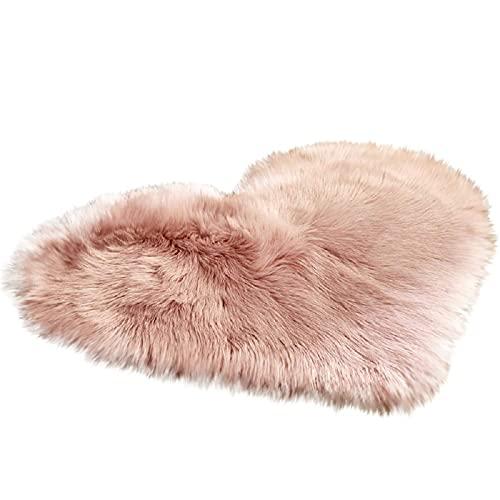 Alfombra de piel de cordero sintética, pelo largo, muy suave, para silla, sofá, cama, sala de estar, dormitorio o habitación infantil (G)