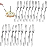 Liuer 20PCS Bastoncini in Acciaio Inox per Cocktail Cocktail Picks Forchette da Dessert Fo...