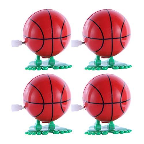 Toyvian 4 Stücke Baby Aufziehspielzeug Fußball Volleyball Basketball Spielzeug Sportball Sport Neujahr Geburtstag Geschenk für Jungen Mädchen Kindergeburtstag Mitgebsel