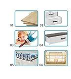 Etagenbett MAX 3 (für DREI Kinder) 200x80cm und 200x120cm Farbe: weiβ, grau, lila, rosa, grün oder blau. mit Latten und Matratzen DIREKT VOM PRODUZENTEN (grau) - 2