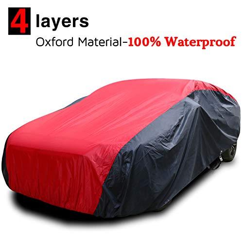 KAKIT Waterproof Car Covers, 7 Layers 420D Oxford Fabric Sedan Car Cover...