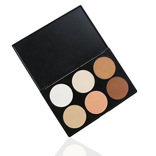 RUIMIO 6 Couleurs Palettes de Maquillage Anti-Cernes Correcteurs pour Le Visage