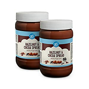 Marca Amazon - Happy Belly Crema de cacao y avellanas, 2 x 800g