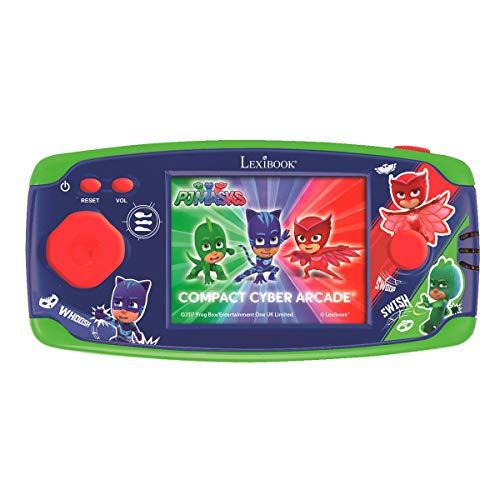 PJ Masks Compact Cyber Arcade Tragbare Spielkonsole, 150 Gaming, LCD, Batteriebetrieben, grün/rot, JL2365PJM