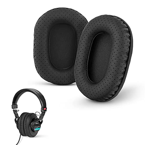 Brainwavz Perforated Replacement Earpads for Sony MDR 7506, V6 & CD900ST with Memory Foam Ear Pad & Suitable for Other On Ear Headphones (Black)