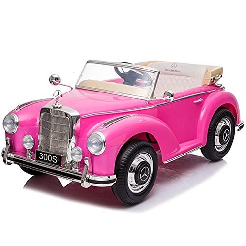 Babycoches - Coche eléctrico para niños Mercedes Benz 300S, con Licencia Oficial, con Mando a Distancia para Control Parental, 12V, Color (Rosa)