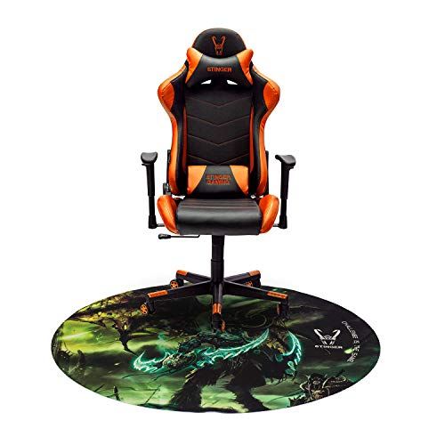 Woxter Stinger Station Orange - Silla Gaming (Racing) + Alfombrilla Gaming de Suelo