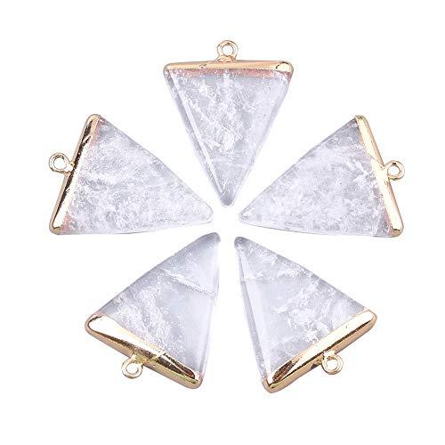 CHGCRAFT 5 Piezas de encantos de triángulo de Cristal con fornituras de...