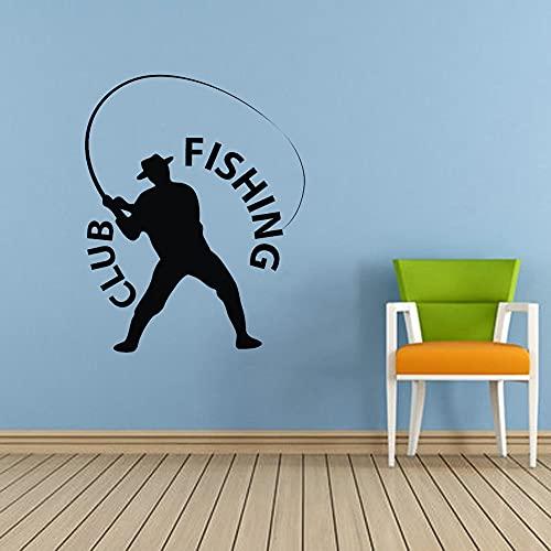 Fishing Club Impermeabile Intaglio In Vinile Adesivo Rimovibile Piastrelle In Vetro Wall Art Wallpaper Home Decor Moda Murale Poster A4 47x59cm