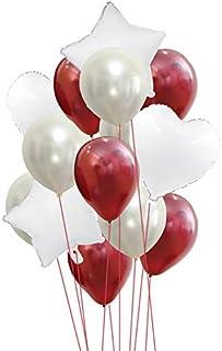 14 in 1 /set Multi Color Star Heart Foil Balloons Air Wedding Decoration Helium Balloon Happy Birthday Party Decoration Ki...