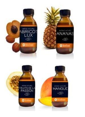 Néroliane Arome Naturel : Lot de 4 flacons50 ML : Abricot - Ananas - Mangue - Passion