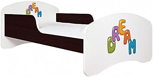 ANIMALS Kinderbett  DREAM  mit ohne Schublade Matratze und Lattenrost (160x80 cm ohne Schublade, Venge)