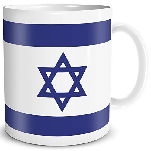 TRIOSK Tasse Flagge Israel Länder Flaggen Geschenk Souvenir für Reiselustige Frauen Männer Arbeit Büro Weltenbummler