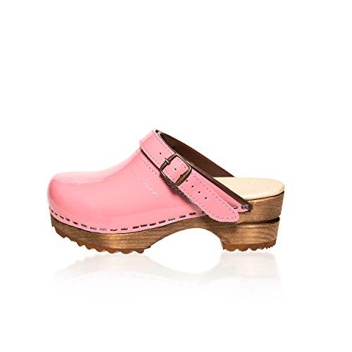 Hedda Loves Denmark Marlene - Zuecos para niña, color Rosa, talla 33 EU
